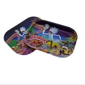 Backwoods Rick & Morty Magnetic Rolling Tray NEW